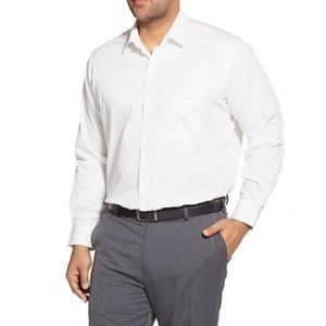 Classic Fit Herringbone Dress Shirt 17.5 34 / 35